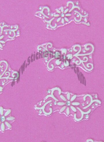 Stickers d'ongles marguerites blanches et strass