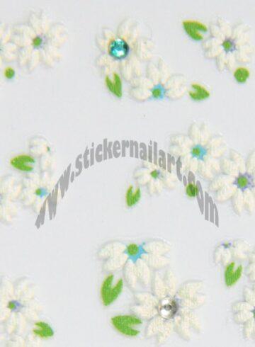 Stickers d'ongles duo de fleurs en été