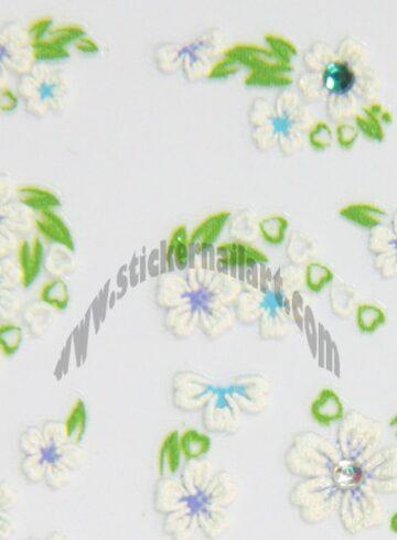 Stickers d'ongles fleurs en été