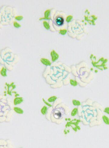 Stickers d'ongles roses en été et strass